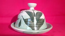 A  LOVELY ROY PARSLEY STUDIO POTTERY , FARM HOUSE , CHEESE/BUTTER DISH & COVER.