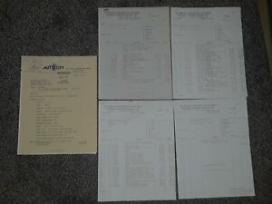 Awesome Lot Of 4 1970s Plymouth Locomotive Works Invoices WORLD TRADE CENTER!!