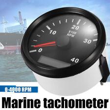 Marine RPM 85mm Tachometer Gauge LCD Tacho Hour Meter Meter 12/24V 0-4000 RPM