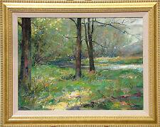"""Scott Burdick """"Wisconsin Landscape"""" Original Oil Painting on Board, forest, OBO"""