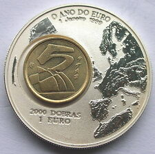 St.Thomas Prince 1999 Spain Mark 2000Dr 1oz Silver Coin,Proof