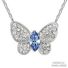 Collana Donna con Ciondolo Farfalla in Crystal Swarovski Zirconi - G103