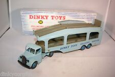 DINKY TOYS 582 PULLMORE CAR TRANSPOTER FAWN DECKS NMINT BOXED RARE SELTEN RARO!