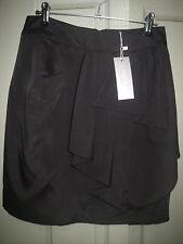 NEW Sheike 8 10 Black Thunderstorm Drape Panel Short Skirt Work or Evening