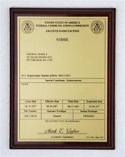 HAM Radio - Amateur Radio License Call Sign Gold & Black  Plaque - *NICE GIFT*