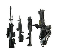 "4pcs Weapon Marksman Sniper Shotgun Rifle Machine Gun Turret For 6"" Halo Figure"