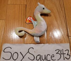 TY TEENIE BEANIE BABIES BABY NEON THE SEAHORSE 1999 RETIRED MINT MCDONALDS