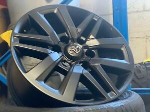 Genuine Toyota Hilux SR5 18inch in Custom SATIN BLACK set of 4 new wheels