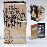 Wallet Phone Case Flip Cover for iPhone 6 Plus / 6S Plus - Vintage Chandelier