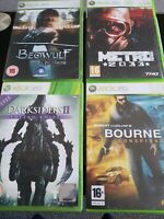 Xbox 360 4 Games Beowulf,Metro 2033, The Bourne Conspiracy  Darksiders 11 Vgc
