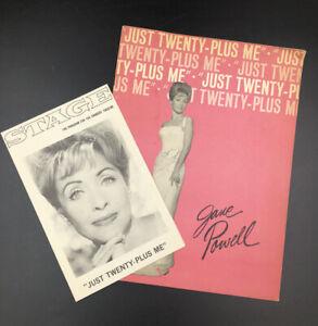 Jane Powell Just Twenty-Plus Me Souvenir Program Signed Shubert Theatre Program
