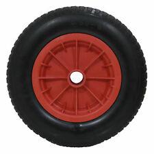 "Marko (MTL-PPWBW) 14"" Red PU Puncture-Proof Wheelbarrow Wheel"