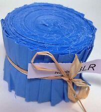 "20 pcs (2.5""x 45"") Clear Blue fabric Jelly Roll binding/edging BLI FREE POST AU"