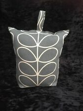 Handmade Butée de porte avec Orla Kiely linéaire Tige en tissu gris-rempli-Neuf