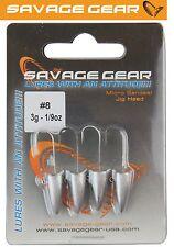 Savage Gear LRF Micro Sandeel Jigghead - 4 Jigköpfe 3g, Jighaken, Jigs, Bleikopf