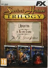 Gioco Pc Sherlock Holmes Trilogy - cofanetto Deluxe slipcase 3 dischi ita Usato