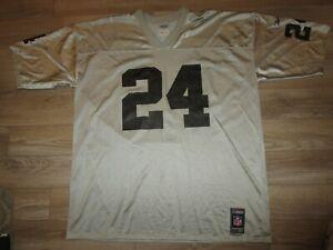Charles Woodson #24 Las Vegas Oakland Raiders NFL Reebok Silver Jersey 2XL mens