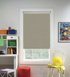 NEW Bali Cut to Size Cordless Room Darkening Roller Shade - Woven Taupe