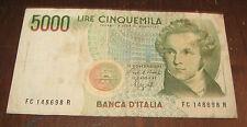 Banconote Europa/Italia Banca D'Italia 5000 Lire