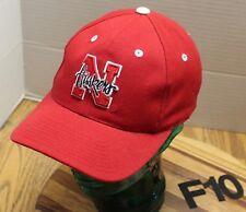 PUMA UNIVERSITY OF NEBRASKA HUSKERS HAT RED EMBROIDERED SNAPBACK VGC F10