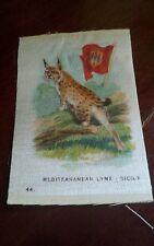1915 Itc Silk - Mediterranean Lynx - Animals with Flag