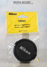 NIKON 58mm COPRIOBIETTIVO NUOVO E ORIGINALE FOTO VIDEO MADE IN JAPAN