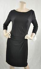 Tahari ASL New w Defects 3/4 Sleeve Matte Jersey Cocktail Dress Black Sz 8 $118
