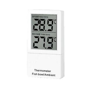 Mini Aquarium Thermometer LCD Digital Display Fish Tank Water Temperature Meter