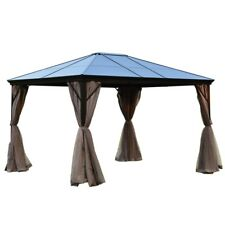 ALEKO Aluminum Frame Hardtop Gazebo with Removable Mesh Walls - 10 x 12 ft