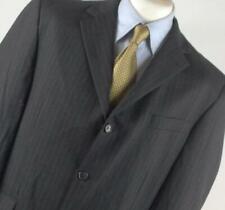 Burton Mens Grey Striped Suit Jacket 42 Chest (Regular)
