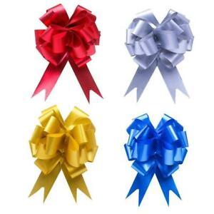 30 Pull Bows 30mm Wedding Gift Bow Wrap Ribbon Florist Decor Valentine's G4W2