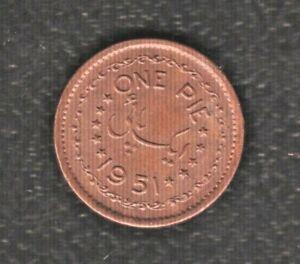 PALISTAN 1 PIE 1951 BRONZE