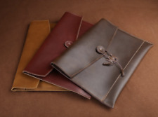 Genuine Leather MacBook Case Notebook Laptop Sleeve Pro Air Handmade Custom made