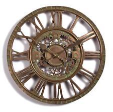 Large Outdoor Garden Wall Clock Open Face Metal Big Roman Numerals Indoor