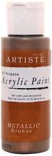 Artiste 2 oz Acrylic Paint Metallic Bronze DOA 763105