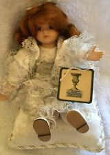 Classic Treasures Porcelain Beautiful Doll in White Fancy Dress