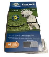NEW PetSafe Easy Walk Dog Training Harness Collar Medium Black & Silver
