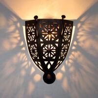 Orientalische Eisen Lampe Wandlampe MAROKKO Schirm Orient Wandschirm BOHA-K