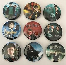 NEW Lot of 9 Harry Potter Badges - 3cms diameter Party Favours, Loot Bag Fillers