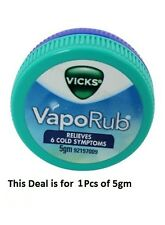 Vicks Vaporub Ointment Vaporizing blocked nose cough Nasal headache Relief 5g
