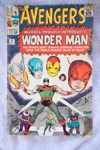 Vintage 1964 Marvel Avengers #9 Comic Book Introduces Wonder Man
