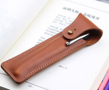 fountain pen storage bag Genuine cow Leather Customize handmade case brown z179