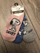 Primark Snoopy Ladies Girls Shoe Liners Socks 3 Pairs Uk 4-8 New