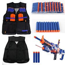 1 Tactical Vest Adjustable + 100 Foam Bullet Elite Darts for Nerf Team Game Toys