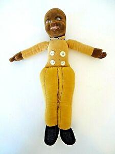 Vintage Norah Wellings Cloth Felt Doll Black Butler TLC