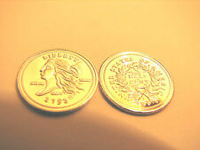 Lot (10) 1 Gram Silver 1793 One Half Cent Penny  Bullion Rounds