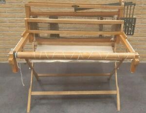 Sehr schöner Tischwebstuhl 4 Schäfte 80 cm Webbr Webstuhl untergestell Weviti