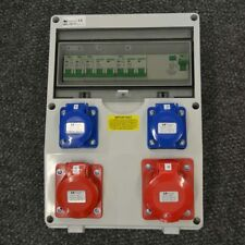 63 Amp RCD Protected Distribution Board (1 x 32A ,1 x 16A 400V &  2 x 16A 230V)