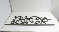 """***SOLID IRON*** 42"""" X 12½"""" SQUARE SCROLL PANEL BALUSTER STAIR RAIL GRAY **NNB**"""