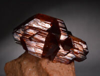 Arcanite crystals on matrix, brown cluster like garnet hessonite or spessartine